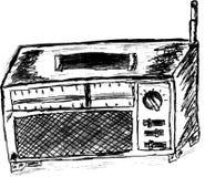 Hand draw sketch, transistor radio Stock Photography