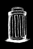 Hand draw sketch, Trash and trash bin Stock Photo