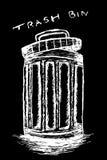 Hand draw sketch, Trash and trash bin Stock Photography