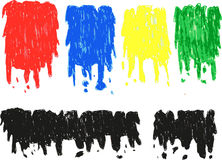 Hand draw sketch, various melt color. Isolated on white Royalty Free Stock Photos