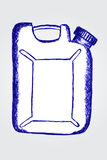 Hand draw sketch white plastic container Royalty Free Stock Image