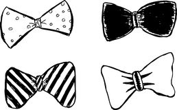 Hand draw sketch, white tie Royalty Free Stock Images