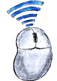 Hand draw sketch, Wireless Mouse Royalty Free Stock Photos