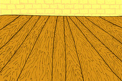 Hand draw sketch of Wooden Floor Stock Photos