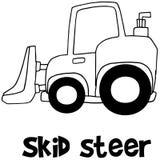 Hand draw of skid steer Stock Image
