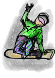 Hand draw snowboarding Royalty Free Stock Photos