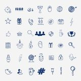 Hand draw social media sign and symbol doodles Stock Photos