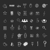 Hand draw social media sign and symbol doodles Royalty Free Stock Photo
