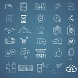 Hand draw social media sign and symbol doodles Stock Image