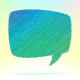 Hand draw speech bubble. + EPS8. Vector file Stock Illustration