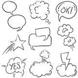Hand draw speech bubble style of doodles Royalty Free Stock Image