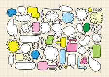 Hand draw speech bubbles. Vector illustration Royalty Free Stock Photo