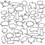 Hand draw speech bubbles. There are hand draw speech bubbles Royalty Free Stock Image