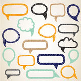 Hand draw speech bubbles vector set Stock Photography