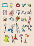 Hand draw stationery Stock Photo