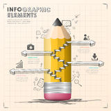 Hand draw style vector infographic elements Royalty Free Stock Image