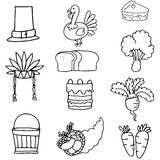 Hand draw of thanksgiving vegetable Royalty Free Stock Photo