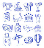 Hand draw travel Royalty Free Stock Images