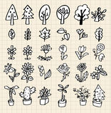 Hand draw tree icon Stock Images