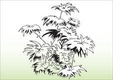 Hand draw trees. Hand drawn illustration of trees and environment, protect our earth Royalty Free Stock Image