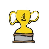 Hand draw trophy, icon Stock Photography