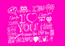 Hand draw Valentine's day Royalty Free Stock Photography