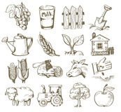Hand draw village Royalty Free Stock Photo