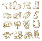 Hand draw village Royalty Free Stock Images