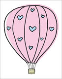 Hand draw vintage balloon Stock Images