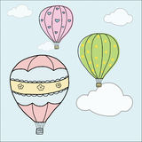 Hand draw vintage balloon Royalty Free Stock Image