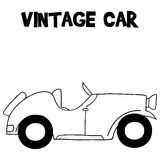 Hand draw of vintage car. Vector illustartion Royalty Free Stock Image