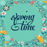 Spring time vintage flower background Stock Photos