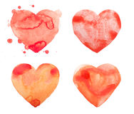 Hand draw watercolor aquarelle art paint love red Royalty Free Stock Images
