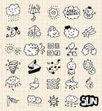 Hand draw weather. Vector illustrator royalty free illustration