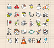 Hand draw web icon Royalty Free Stock Image