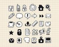 Hand draw web icon Royalty Free Stock Photo