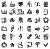 Hand draw web icon Royalty Free Stock Photography