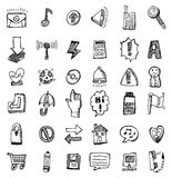 Hand draw web icon. Vector drawing Royalty Free Stock Photo