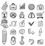 Hand draw web icon. Drawing Stock Image
