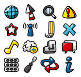 Hand draw web icons collection Royalty Free Stock Photos