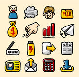 Hand draw web icons collection. Vector,illustration Royalty Free Stock Photo