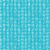 Hand draw web icons seamless pattern Stock Images