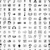 Hand draw web icons seamless pattern Royalty Free Stock Photo