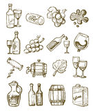 Hand draw wine Royalty Free Stock Photos
