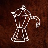 Hand drawan vector coffee maker on textured paper Stock Photo