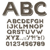 Hand drawin alphabet handwritting abc vector font. Type letters, numbers and punctuation marks Stock Image