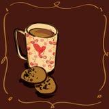 Hand drawind kop van koffie Royalty-vrije Stock Foto's