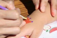 Hand drawing stock image