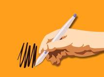 Hand Drawing. Illustration line-art stock illustration