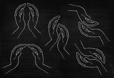 Hand drawing stock photography